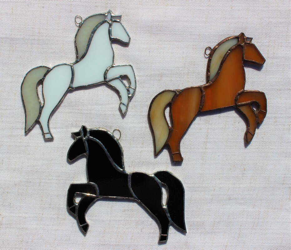 Group of 3 horse ornaments